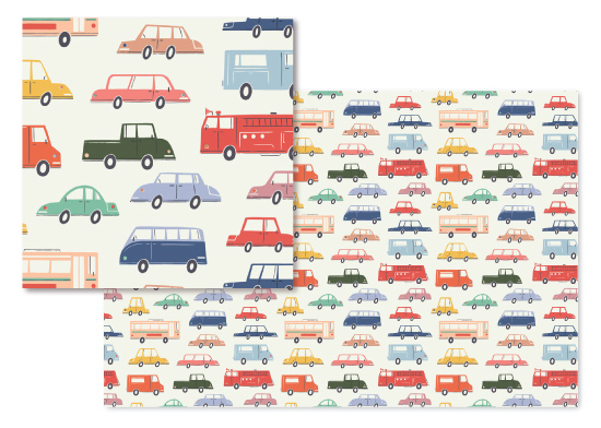 fabric - Cars and Trucks by Morgan Ramberg