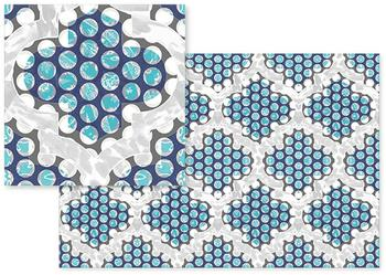 floral blue dots