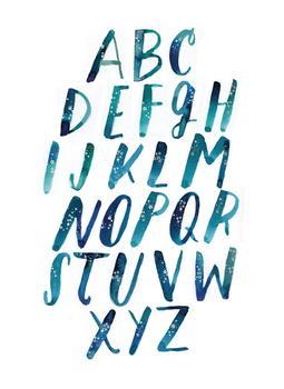 Sparkly Alphabet