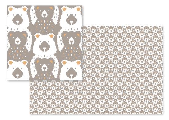 fabric - Big Bear Lil' Bear by Gina Grittner