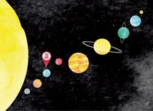 Solar System Directions by Monica Bergler
