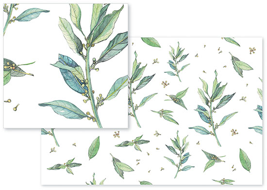 fabric - Greenleaves Fabric by Santie Amery