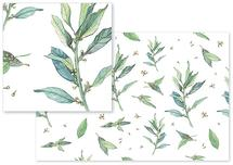 Greenleaves Fabric by Santie Amery