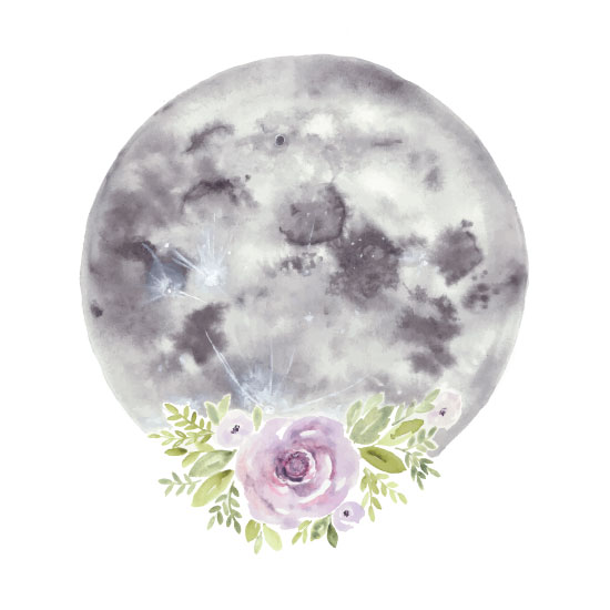 art prints - Botanical Moon by Anna Liisa Moss