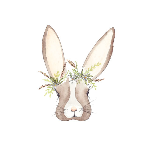 art prints - Botanical Bunny by Anna Liisa Moss