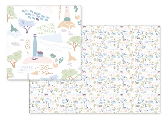 fabric - Pacifica Dreams by Katya Zhukova