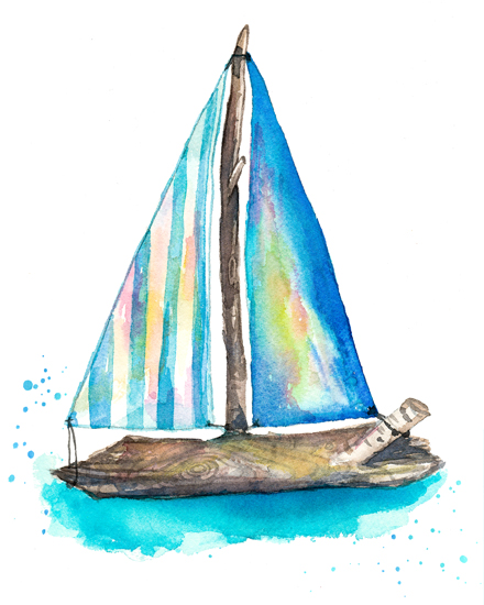 art prints - Guide your own ship by Ksenia Yakovleva