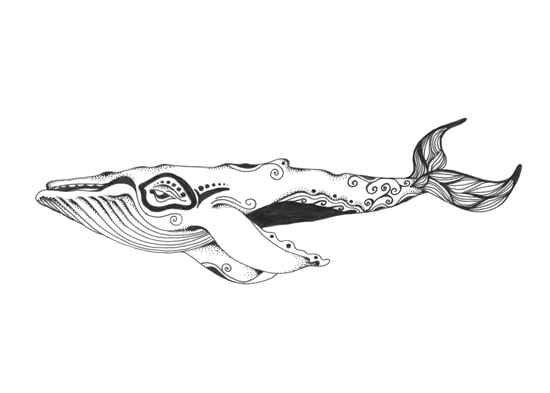 art prints - InuitWhale by Melissa Kircher