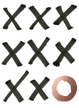 Xs and Os Metallic