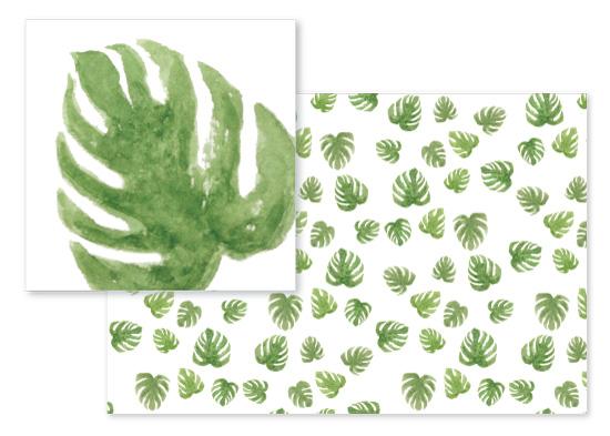 fabric - Palms on palms on palms by Nikki Castiglione