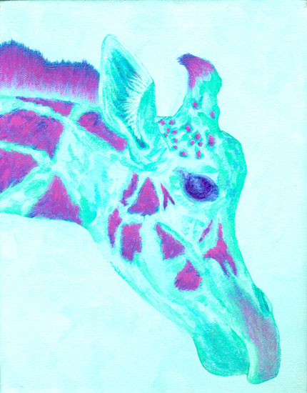 art prints - Kiko the Giraffe by K. Gehling