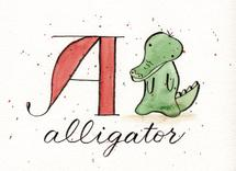 Whimsical Alphabet - A by Monica Bergler