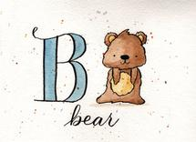 Whimsical Alphabet - B by Monica Bergler
