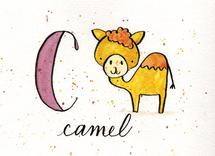 Whimsical Alphabet - c by Monica Bergler
