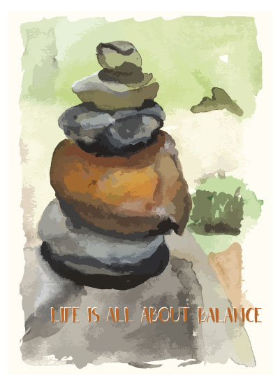art prints - Life Is About Balance by Patti Sokol