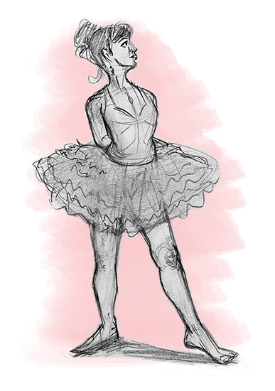 art prints - Ballerina Pose 1 by Joe Apel