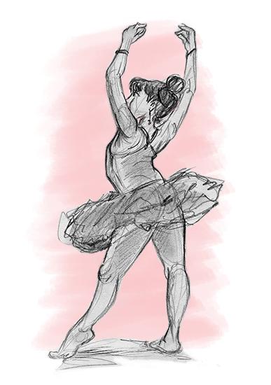 art prints - Ballerina Pose 2 by Joe Apel