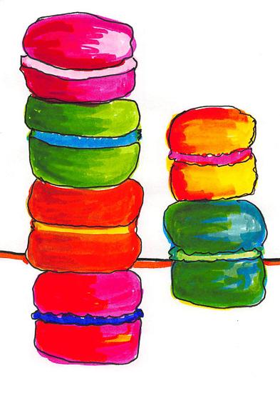 art prints - Macarons S'il Vous Plait by Étoile Design Studio
