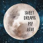 Sweet Dreams Watercolor... by Danielle Huggins