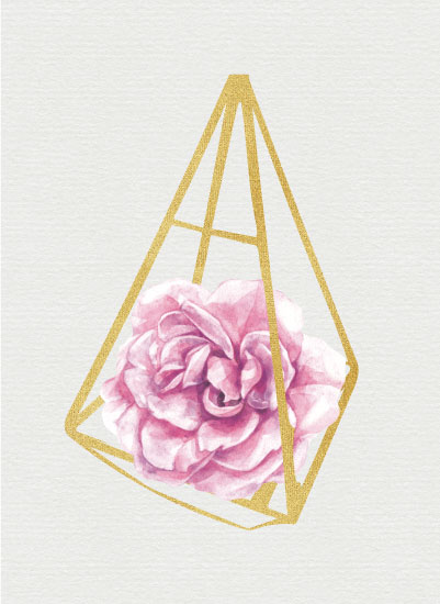 art prints - Pink Terrarium by Danielle Huggins