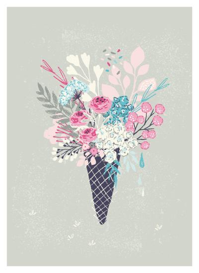 art prints - Sorbet Bloom by Lisa Glanz