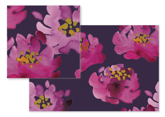 fabric - Dark Florals by Liz Conley