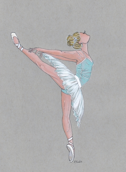 art prints - Pirouette by Kristina Heredia
