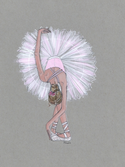art prints - La Rose Ballerina by Kristina Heredia