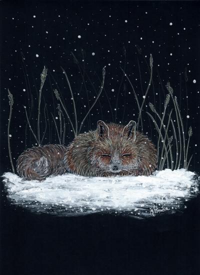 art prints - Sleeping Fox by Kristina Heredia