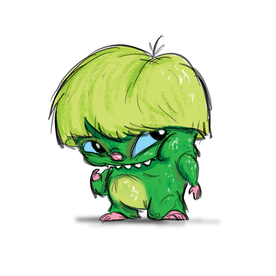 art prints - Shy Green Monster by Joe Apel