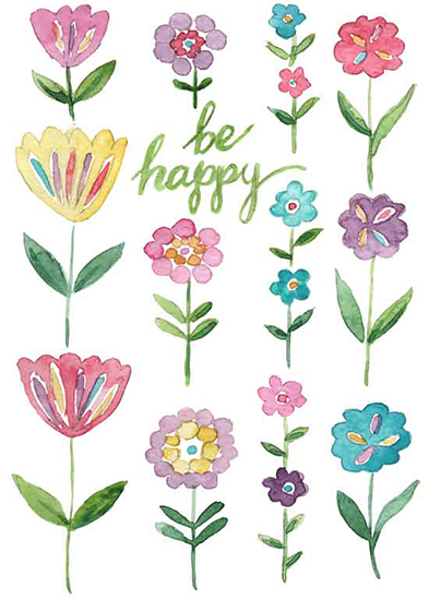 art prints - Be Happy by Melissa Hyatt