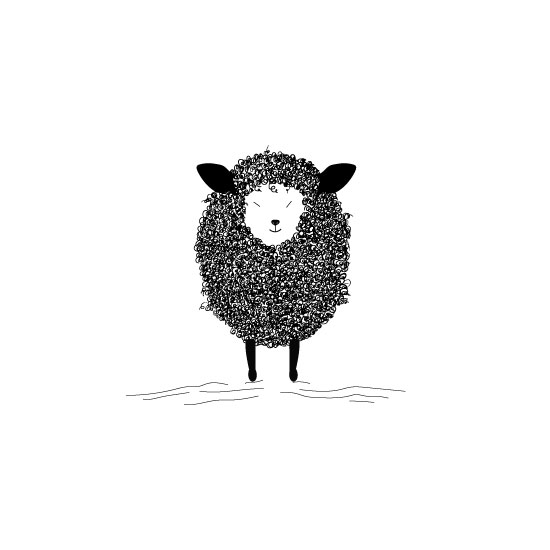 art prints - Sheldon The Sheep by Vani K Sobralske