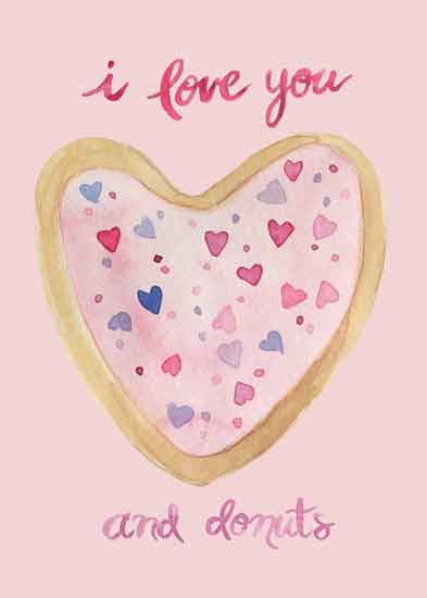 art prints - I love you and donuts by Melissa Hyatt