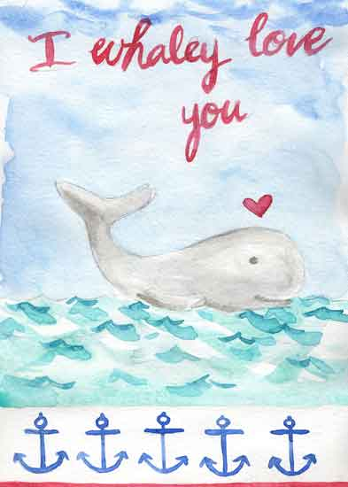 art prints - I whaley love you by Melissa Hyatt