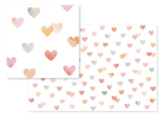 fabric - Painterly Hearts by Hooray Creative