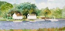 Fishing shacks by Melissa Hyatt