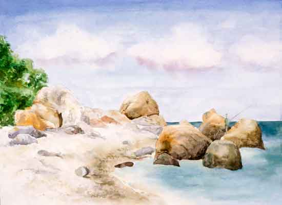 art prints - Rocky Coastline by Melissa Hyatt