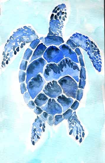 art prints - SeaTurtle in Blue by Melissa Hyatt