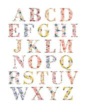 Bloom Alphabet Print by LoveLight Paper