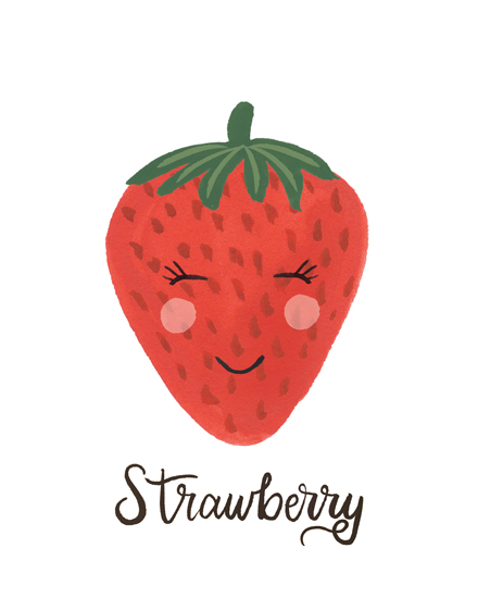 art prints - Strawberry Face by LoveLight Paper
