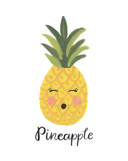 art prints - Pineapple Face by LoveLight Paper
