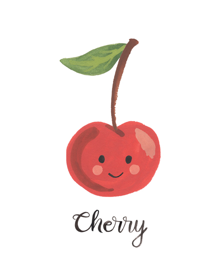 art prints - Cherry Face by LoveLight Paper