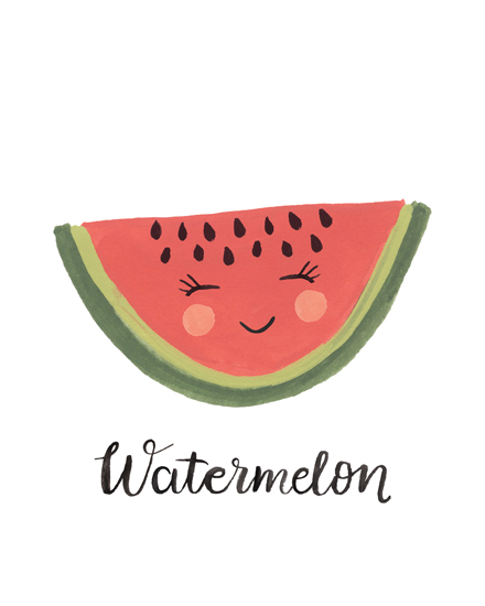 art prints - Watermelon Face by LoveLight Paper