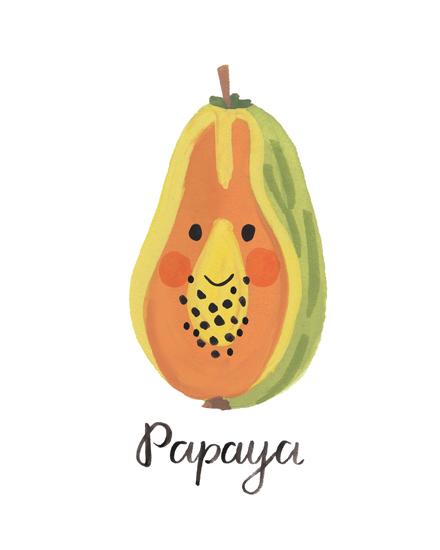 art prints - Papaya Face by LoveLight Paper