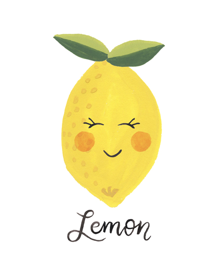 art prints - Lemon Face by LoveLight Paper