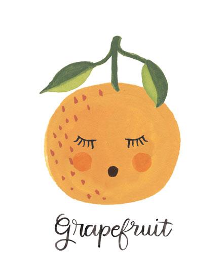 art prints - Grapefruit Face by LoveLight Paper