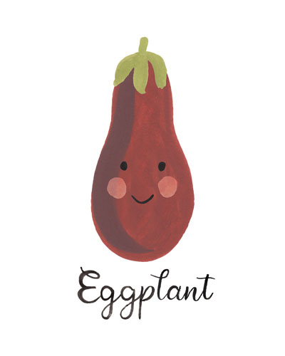 art prints - Eggplant Face by LoveLight Paper