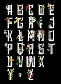 Botanical Alphabet Black