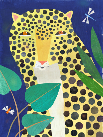 art prints - Jungle Leopard by melanie mikecz