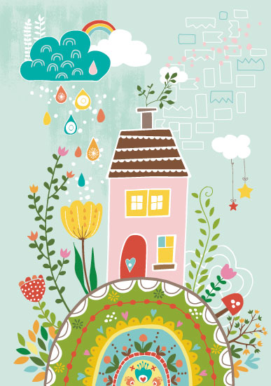 art prints - House on the Hilltop by YULLY ANA